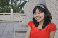 Portrait of a chinese beauty Stock Photo
