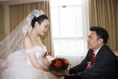 Portrait of Chinese bride and groom Royalty Free Stock Photography