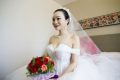 Portrait of a Chinese bride Royalty Free Stock Image
