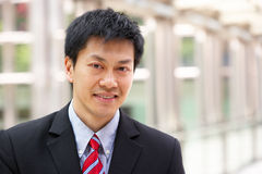 Portrait Of Chinese Businessman Outside Office Royalty Free Stock Photo