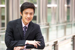 Portrait Of Chinese Businessman Outside Office Stock Photography