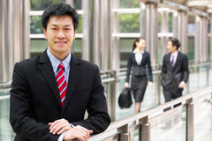 Portrait Of Chinese Businessman Outside Office Royalty Free Stock Photos