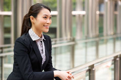 Portrait Of Chinese Businesswoman Outside Office Royalty Free Stock Images