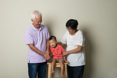 Portrait Of Chinese Grandparents Royalty Free Stock Image