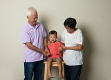 Portrait Of Chinese Grandparents Royalty Free Stock Images
