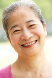 Portrait Of Chinese Senior Woman Stock Images