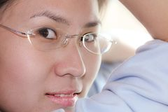 Portrait of chinese woman Royalty Free Stock Photography