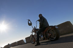 Portrait of a chopper rider Royalty Free Stock Images