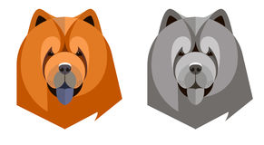Portrait of a chow-chow in a geometric style Royalty Free Stock Photos