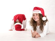 Portrait of Christmas Stock Images