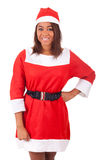 Portrait of christmas african women stock images