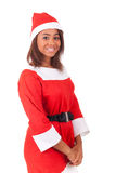 Portrait of christmas african women stock photos