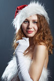 Portrait of a  christmas woman Stock Photography