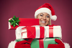 Portrait of christmas woman Stock Photo
