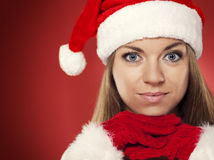 Portrait of christmas woman Royalty Free Stock Image