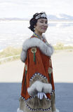 Portrait of chukchi woman royalty free stock images