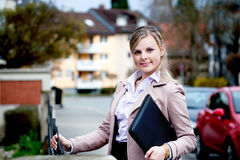 Portrait in the city Royalty Free Stock Photos