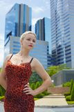 Portrait in city Royalty Free Stock Photos