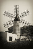 Portrait of classic old tower windmill. Royalty Free Stock Image