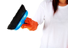 Portrait of cleaning equipment isolated over white background Stock Photo