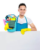 Cleaning service with white board Stock Images