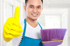 Cleaning service in the office Royalty Free Stock Image