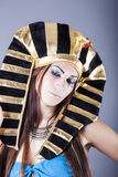 Portrait of cleopatra. Queen of egypt royalty free stock image