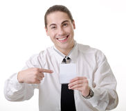 Portrait of a clerk Stock Photos