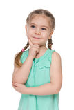 Portrait of a clever little girl Royalty Free Stock Photo