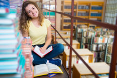 Portrait of clever student with book Stock Photography