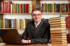 Portrait of clever student Royalty Free Stock Photo