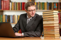 Portrait of clever student Stock Photography