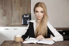 Portrait of clever student reading book Royalty Free Stock Images
