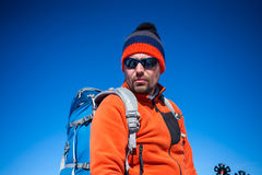 Portrait of a climber. Royalty Free Stock Photo