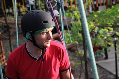 Portrait of climber man Stock Image
