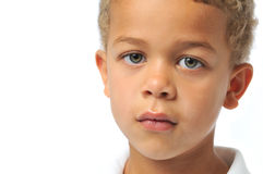 Portrait close up of boy Royalty Free Stock Image