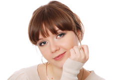 Portrait close up of the happy young woman Stock Photo