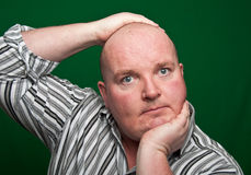 Portrait close up of overweight male Stock Photography