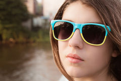 Portrait close up of a pretty teenage gir Stock Photo