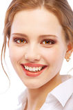 Portrait close up of smiling young woman Stock Image