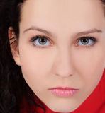 Portrait close up of young beautiful woman Royalty Free Stock Image