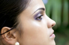 Portrait close up of young beautiful woman Royalty Free Stock Images