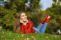Portrait close up of young beautiful woman Royalty Free Stock Photo