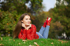 Portrait close up of young beautiful woman Stock Photography