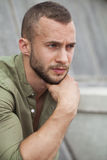 Portrait close up of young man Stock Photography