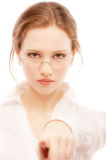 Portrait close up of young woman Royalty Free Stock Photo