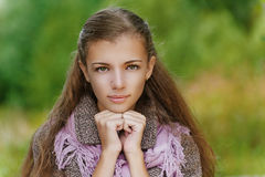 Portrait closeup of beautiful young Stock Images