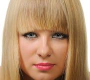 Portrait closeup of the blonde Stock Images