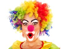 Portrait of clown. Royalty Free Stock Images