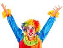 Portrait of clown. Royalty Free Stock Photo